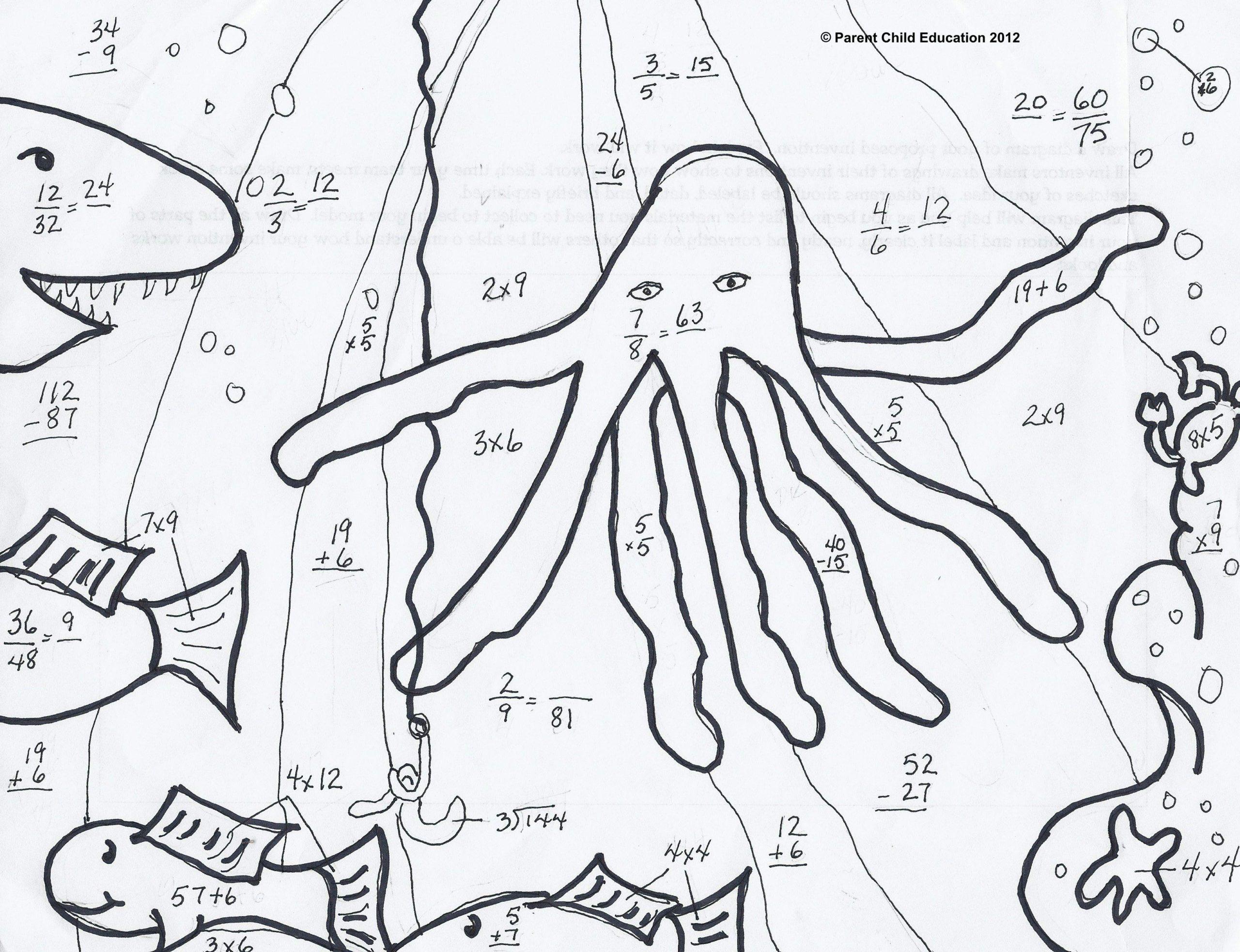 medium resolution of Printable Math Coloring Worksheets 4th Grade – Letter Worksheets