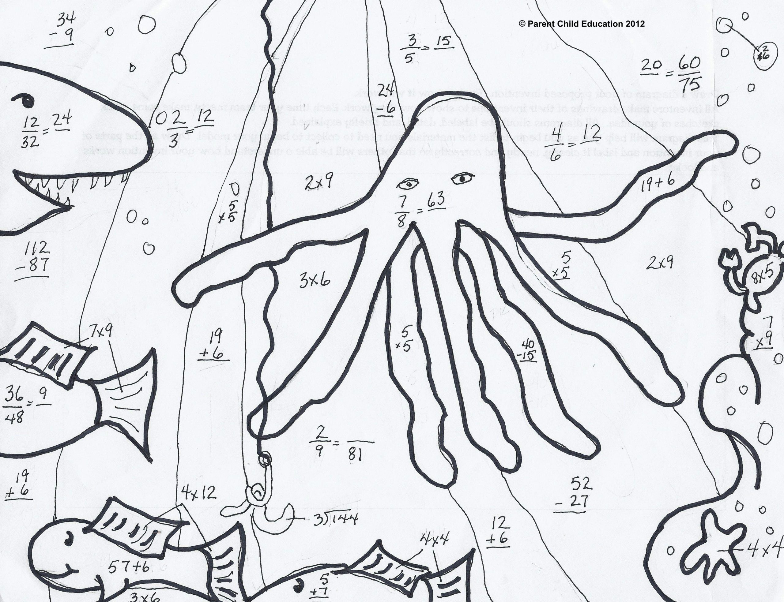 hight resolution of Printable Math Coloring Worksheets 4th Grade – Letter Worksheets
