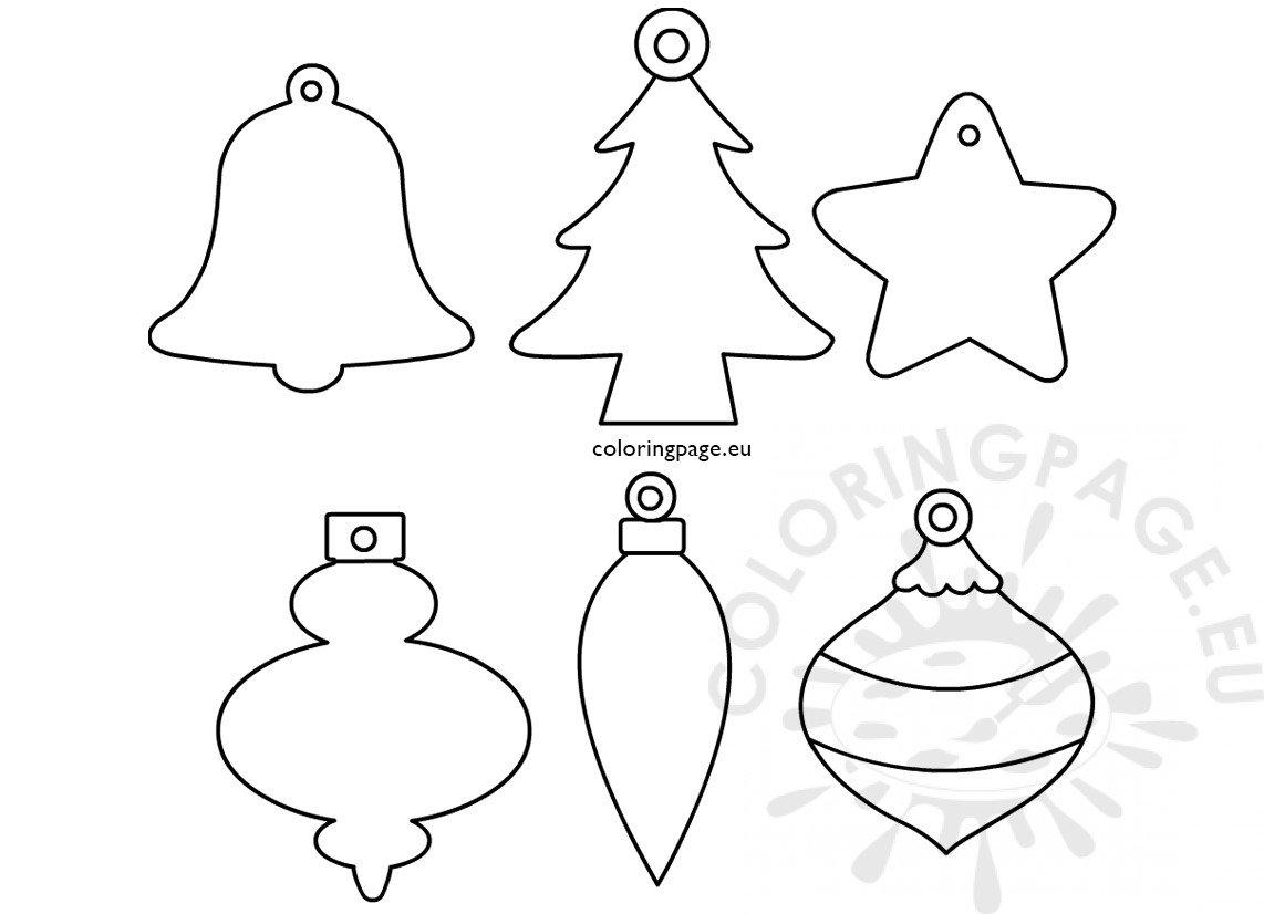 Printable Coloring Pages For Christmas Ornaments Letter Worksheets