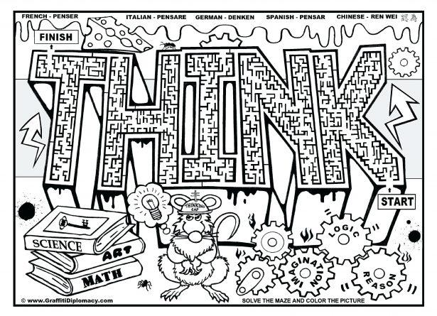 Printable Coloring Pages For Middle School Students – Letter Worksheets