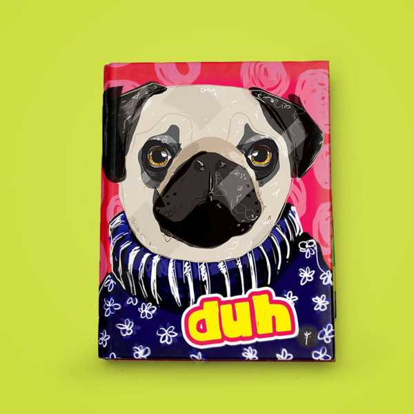 any year planner binder pug front