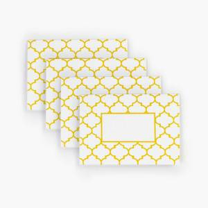 Yellow Geometry Pattern - Set of 4 cards