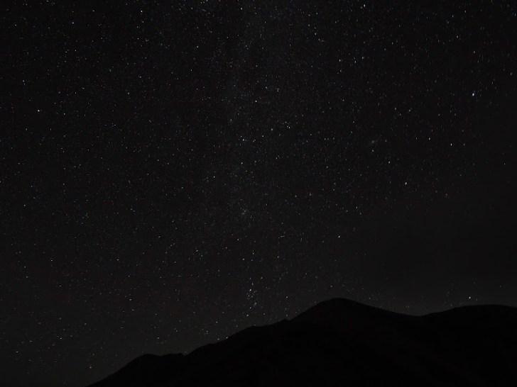 薬師岳の夜