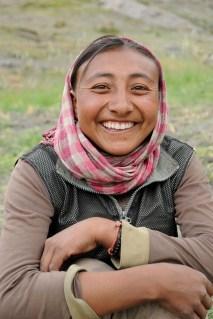 リンシェで出会った畑仕事中の女性