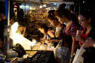 土曜夜のマーケット、チェンマイ