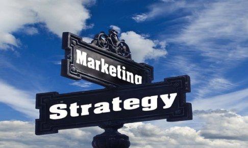 マーケティング戦略を表す看板