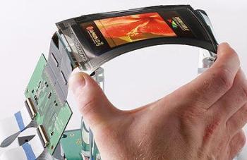 Vidro de tela flexível