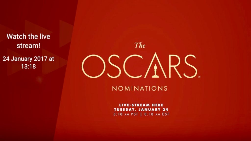 Oscar Nominations 2017 Live Stream ended - Watch Again!