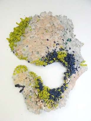 CAN'T SEE (2014) MEDIA: Paper Pulp, Acrylic Gouache & Adhesive. SIZE: Variable.