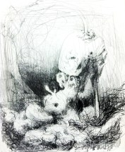 """DREAM OF THE HEEL (2012) MEDIA: Graphite & Pencil on paper. SIZE: 9"""" x 11"""""""