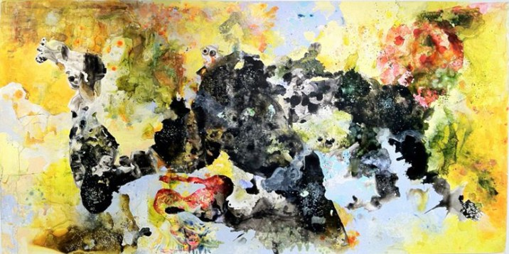 TRANS-SUBSTANTIATED DESIRE (2012) MEDIA: Watercolor, Gouache & Ink on Yupo. SIZE: 5' x 11'