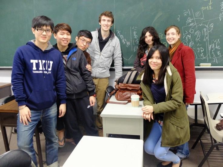 Avec les étudiants de français de l'université
