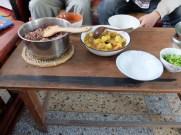 5 types de riz et un curry de légumes