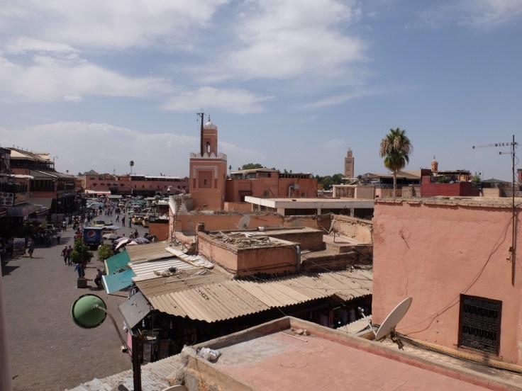 Vue sur la place Jeema el Fna
