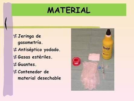 material para la gasometria