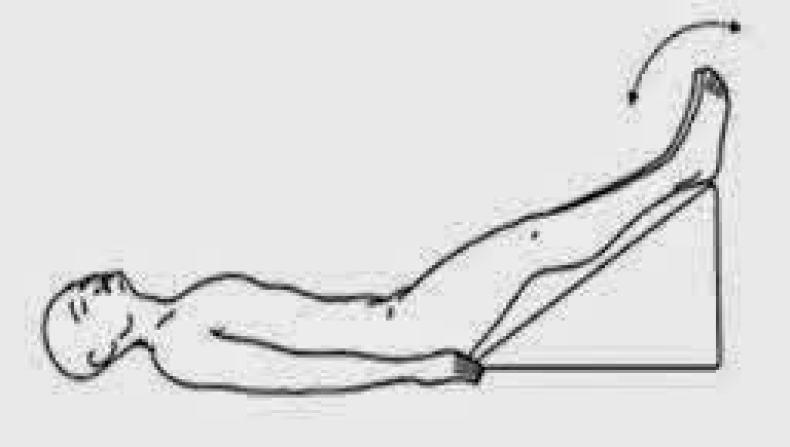 Dorsal con piernas elevadas