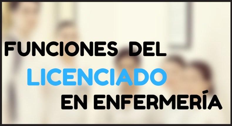 LICENCIADO EN ENFERMERÍA FUNCIONES