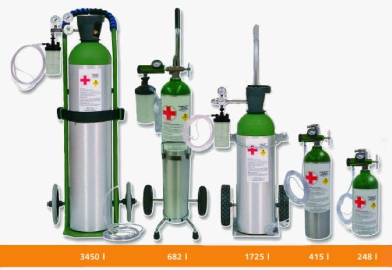 Cilindro de presión de oxigeno