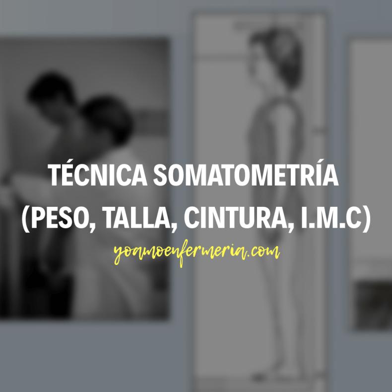 Somatometría técnica (peso, talla, cintura, I.M.C)
