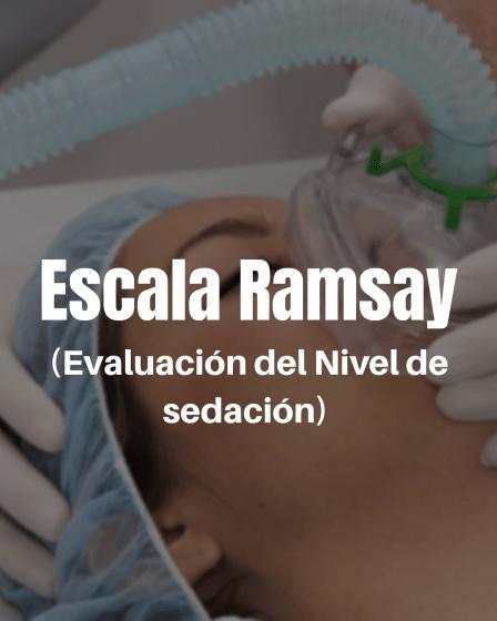 Escala de Ramsay evaluación nivel sedación