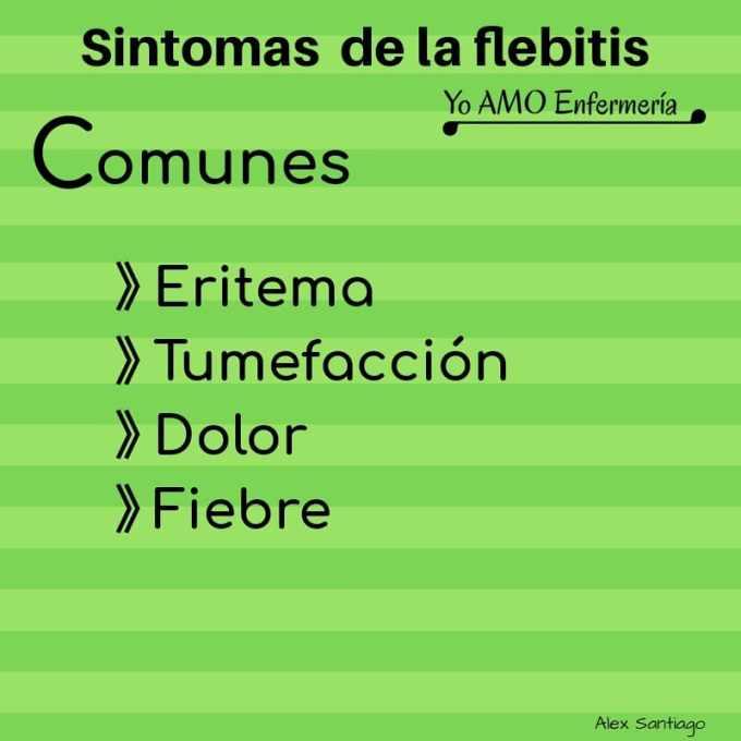 sintomas de la Flebitis