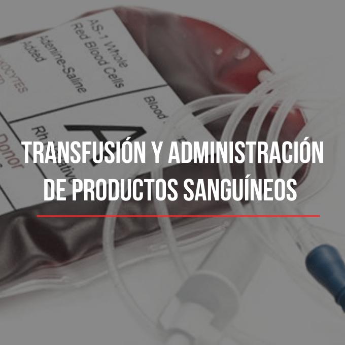 La transfusión sanguínea es la administración de sangre total, o de sus componentes hemáticos, en el interior de una vena.