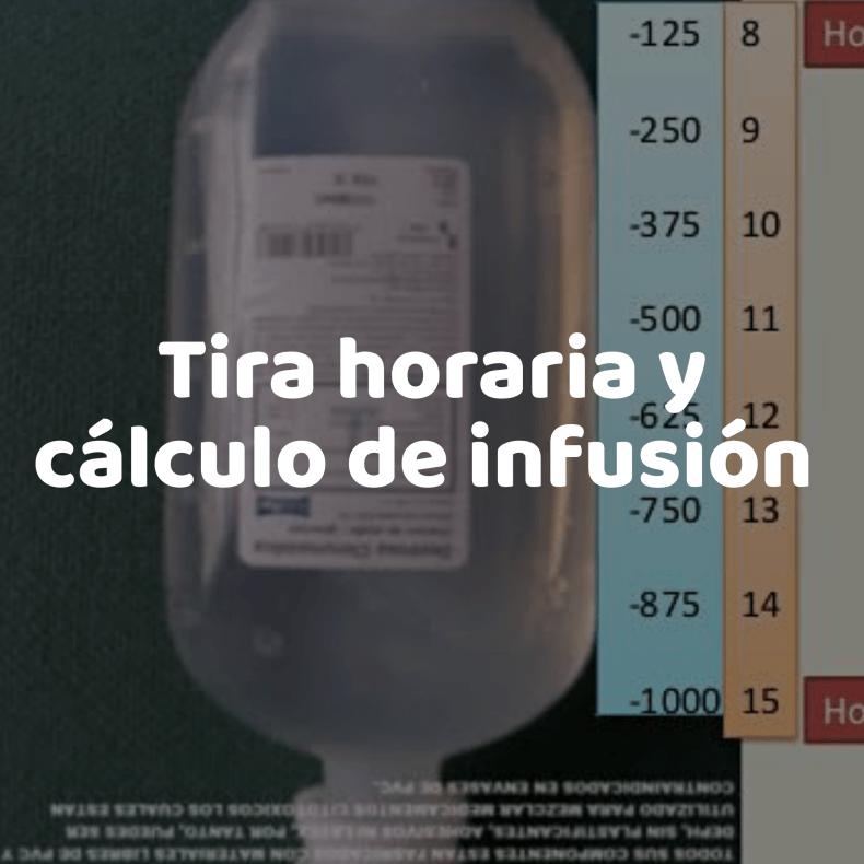 Tira Horaria y Cálculo de infusión