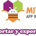 importar y exportar proyectos de app inventor
