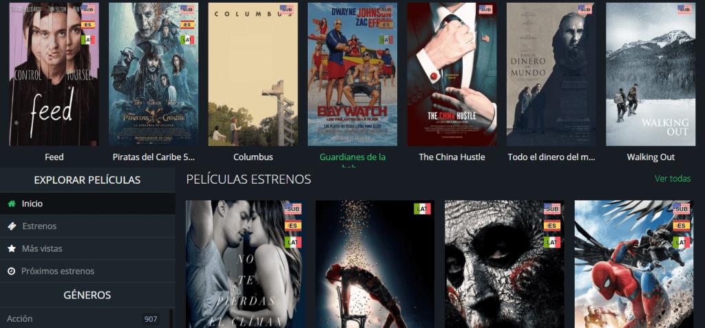 crear pagina web de películas gratis