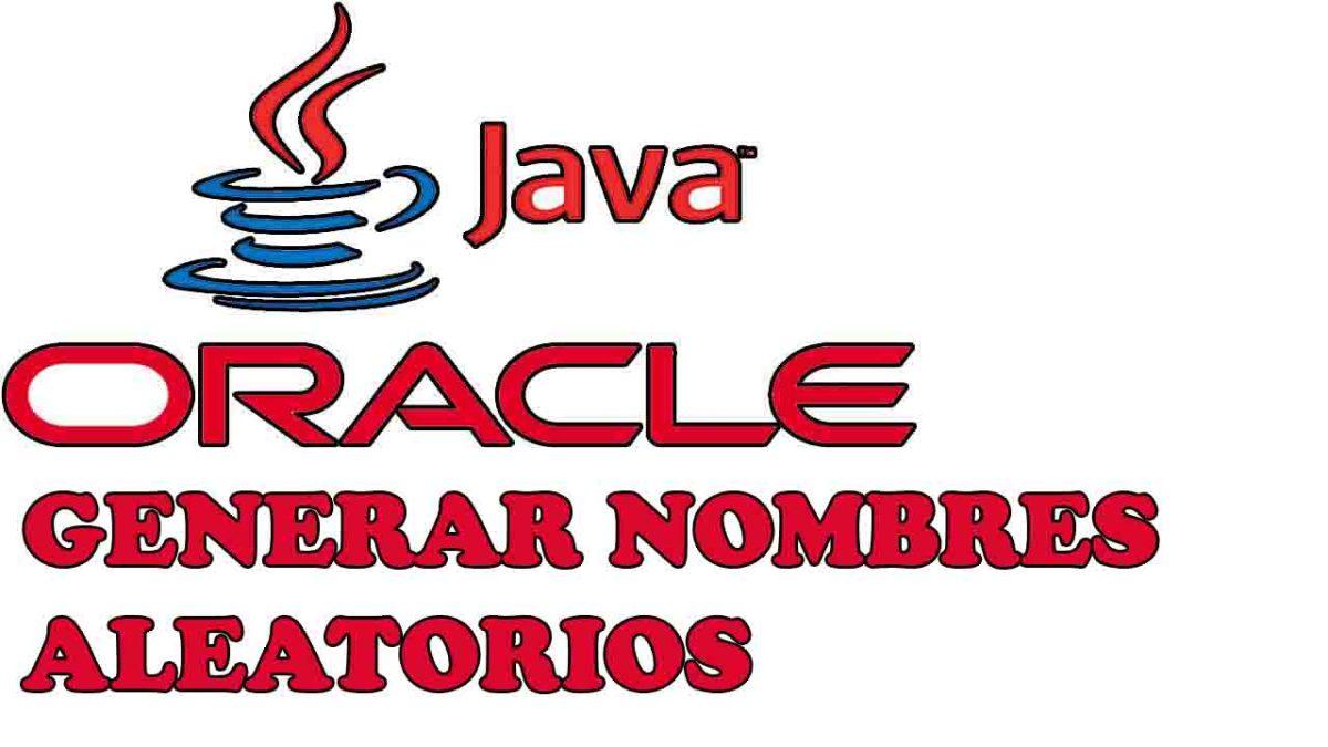Generar nombres aleatorios en Java