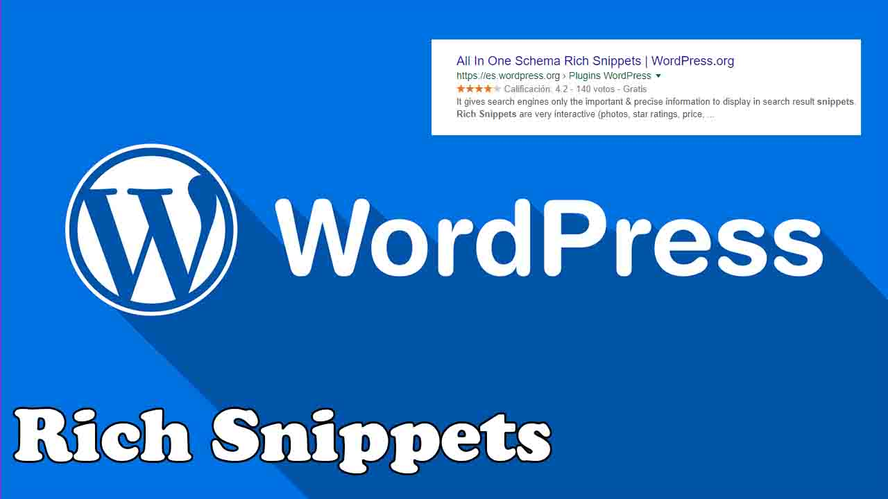 como poner rich snippets en wordpress