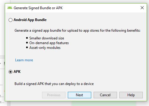 generar apk google play actualizar aplicacion