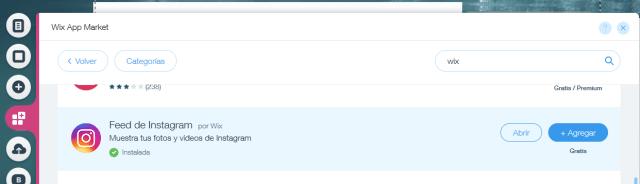 aplicacion feed de instagram en wix