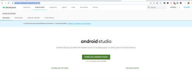 android studio descargar