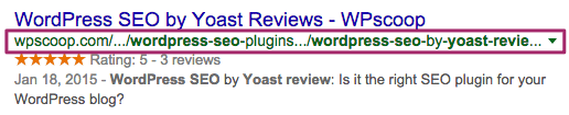 URL focus on the keywords