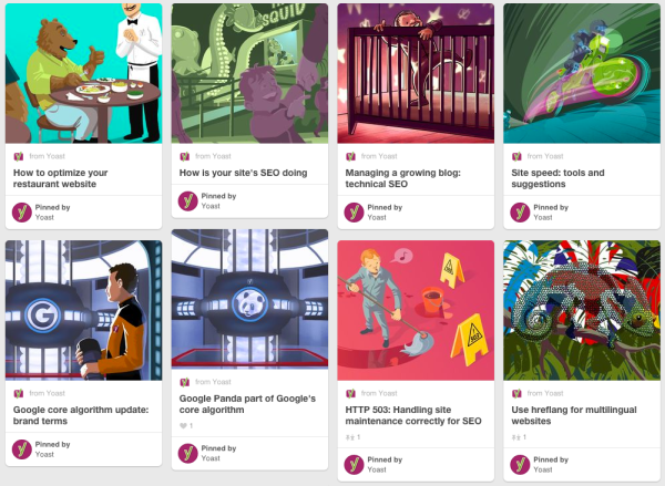 Pinterest - General SEO board example