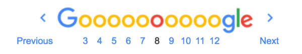 Google's Pagination