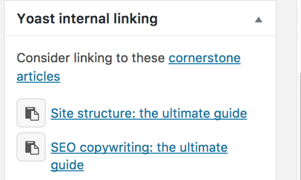 cornerstone content internal linking