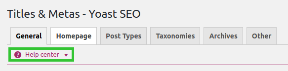 yoast seo titles metas help center