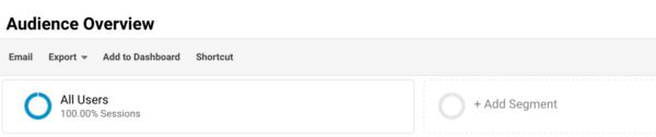 Menambahkan Segmen Pada Google Analytics