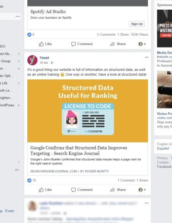 Structured data FB