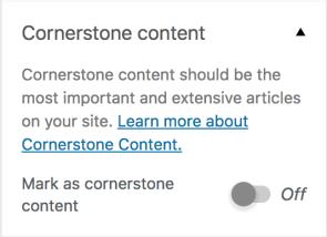 cornerstone content toggle