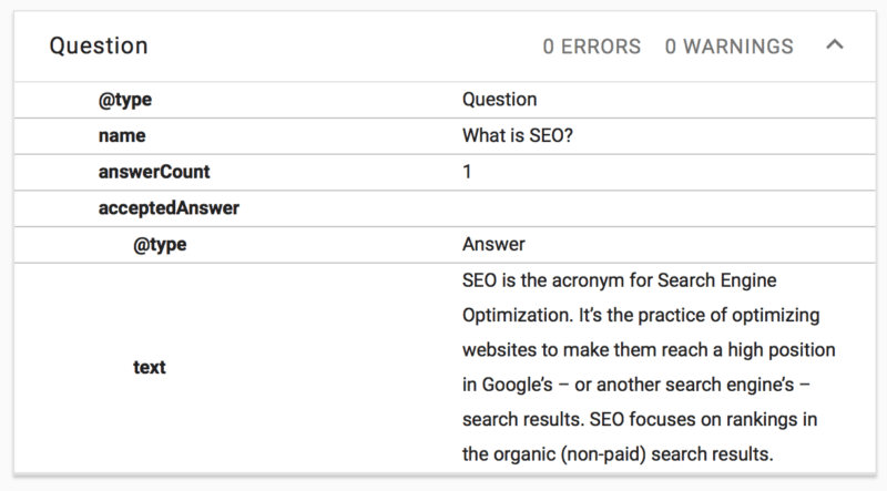question-structured-data-what-is-seo-e1537260968802 How to build an FAQ page with Gutenberg and Yoast SEO