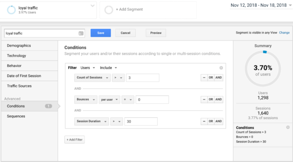 Membangun Segmen Pada Lalu Lintas Loyal Pada Google Analytics