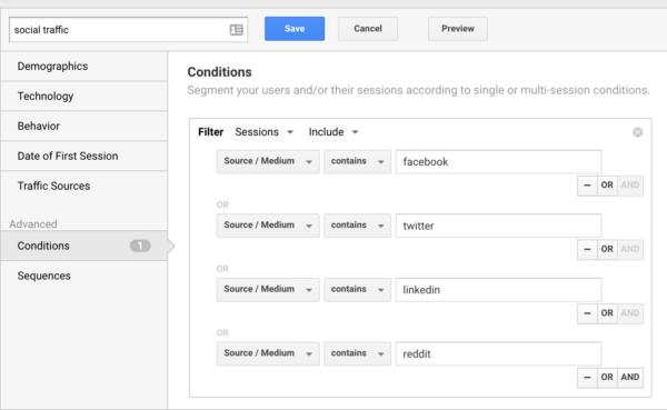 Membangun Segmen Lalu Lintas Sosial Pada Google Analytics