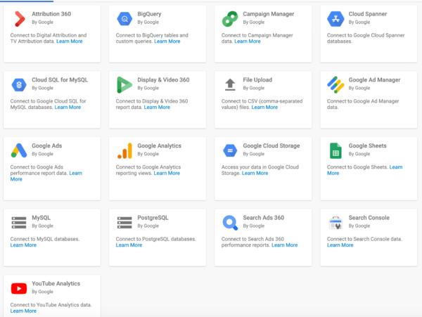 Google Data Studio Data Connectors