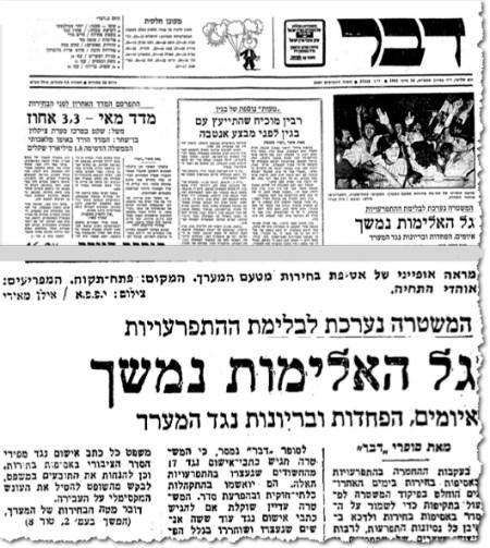 ששה-עשר ביוני 1981, מערכת הבחירות לכנסת העשירית