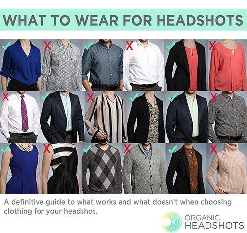 Wardrobe to prepare for headshots
