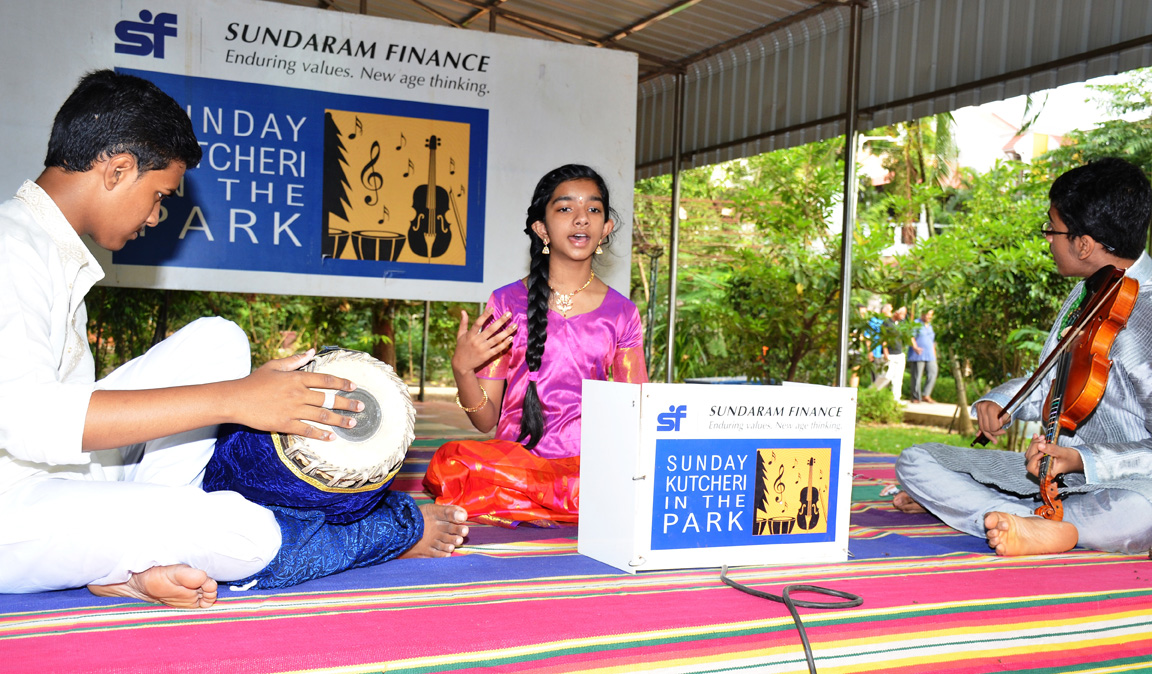 Mayuri Srivaths from the US presents park concert