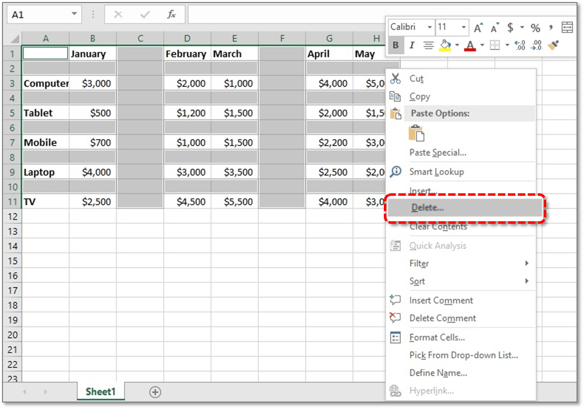 How To Delete Blank Cells In Excel